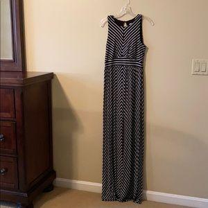 Loft Maternity Striped Maxi Dress
